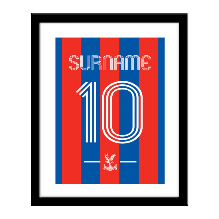 Personalised Crystal Palace FC Retro Shirt Print