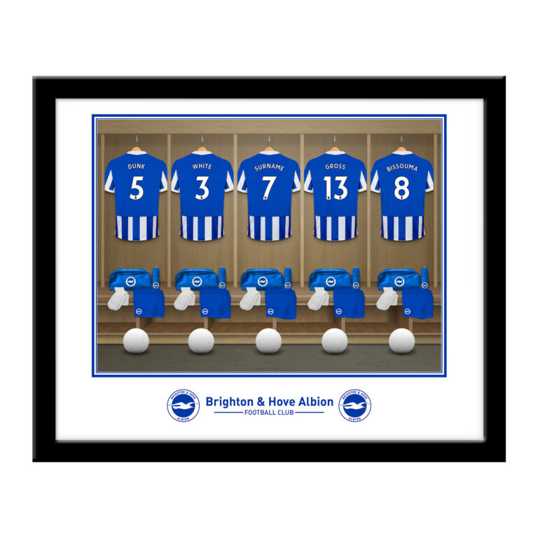 Personalised Brighton & Hove Albion FC Dressing Room Framed Print