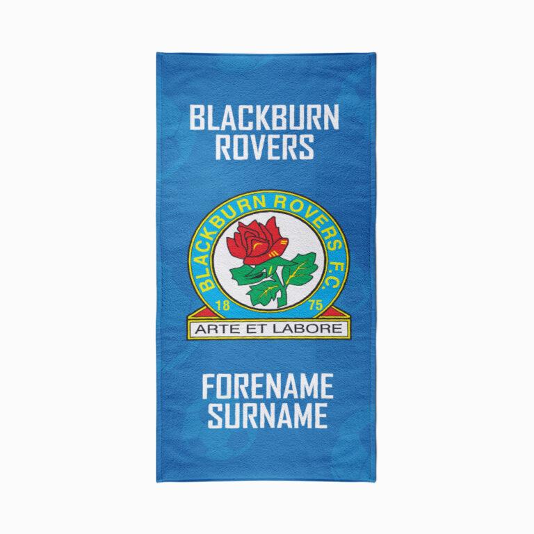 Personalised Blackburn Rovers FC Crest Beach Towel – 70cm x 140cm