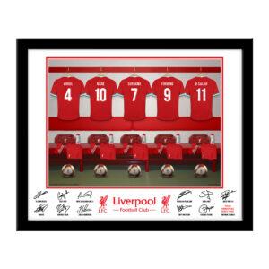 Personalised Liverpool FC Dressing Room Framed Print