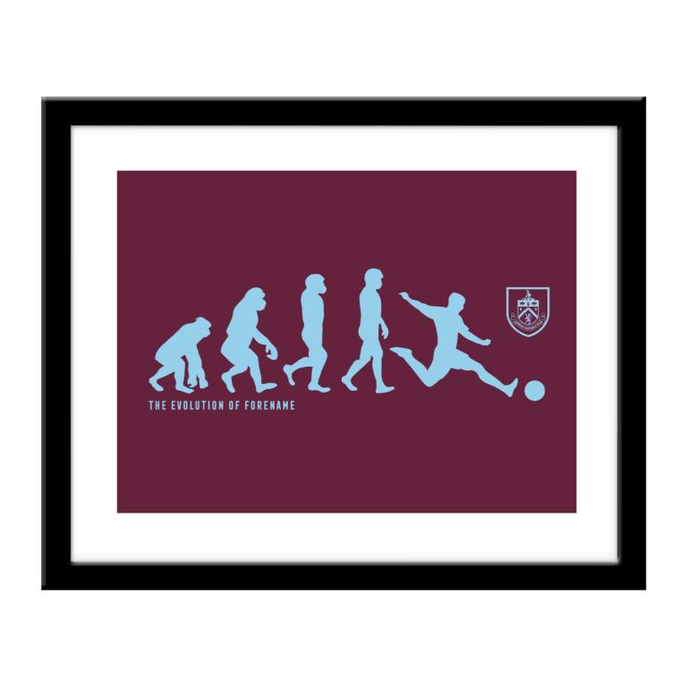 Personalised Burnley FC Evolution Print