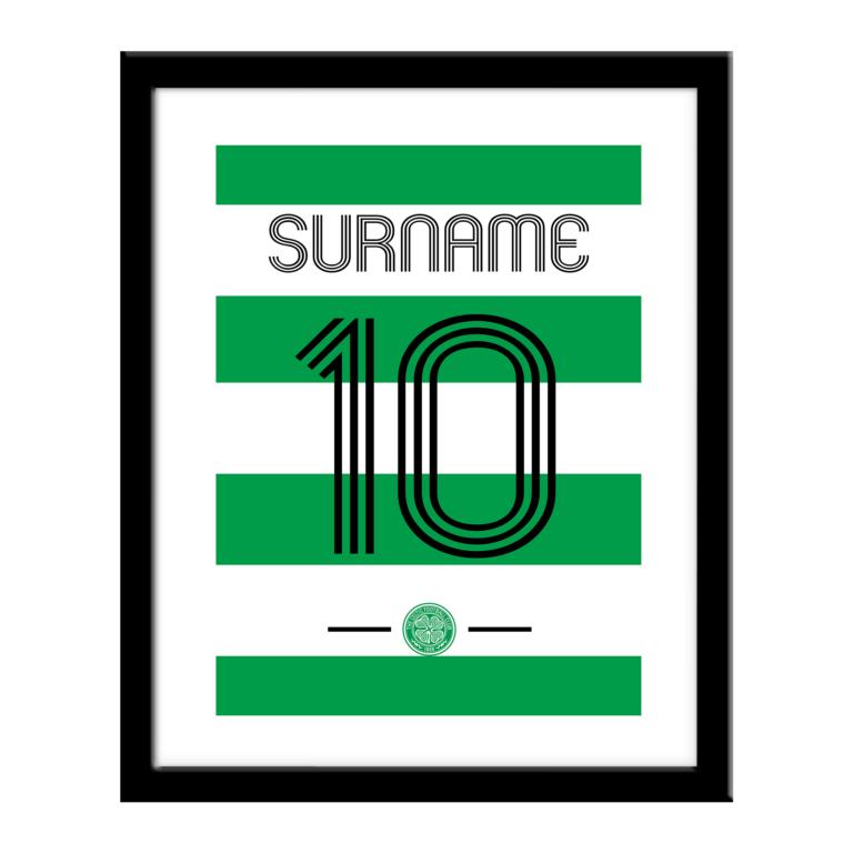 Personalised Celtic FC Retro Shirt Print