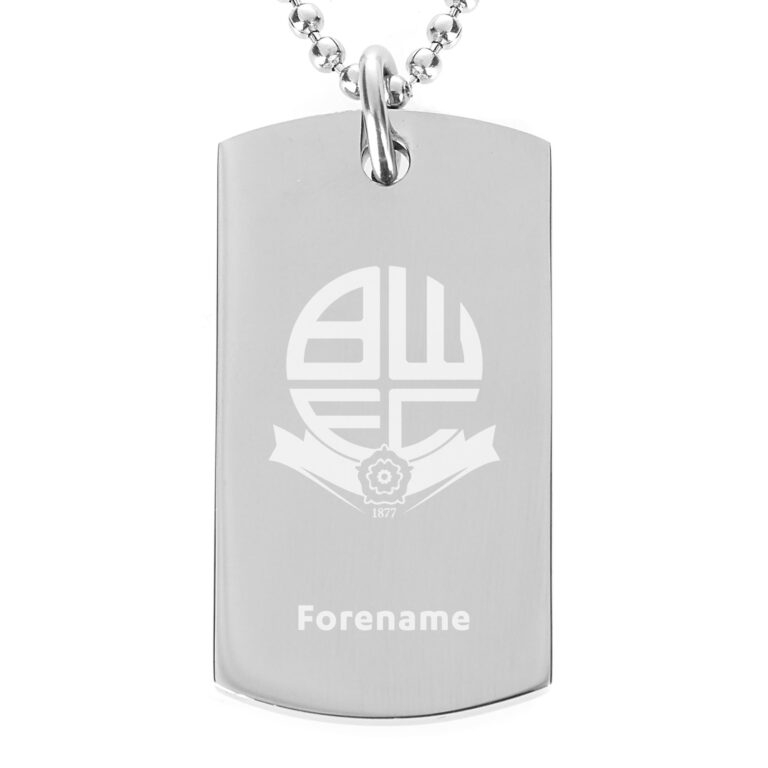 Personalised Bolton Wanderers FC Dog Tag
