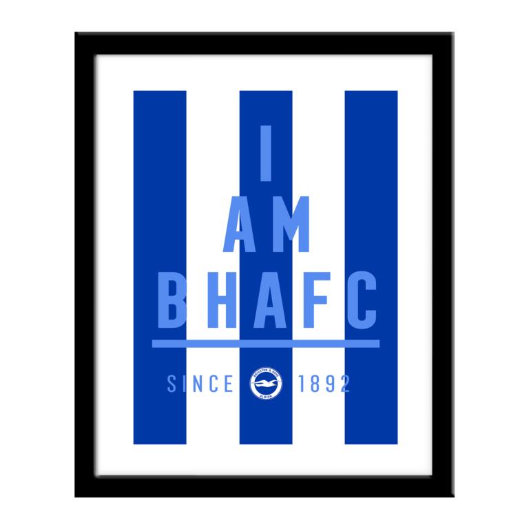 Personalised Brighton & Hove Albion FC I Am Print