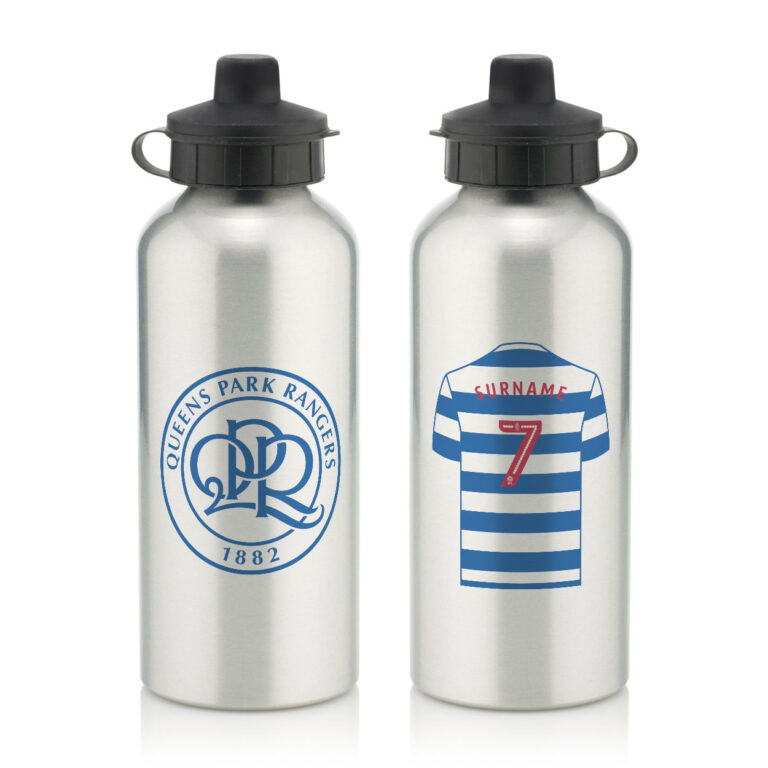 Personalised QPR FC Aluminium Water Bottle