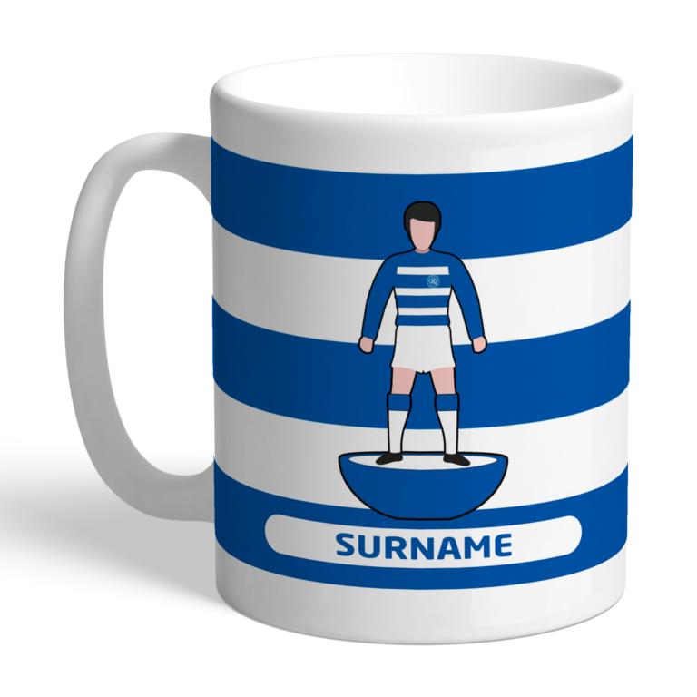 Personalised QPR FC Player Figure Mug