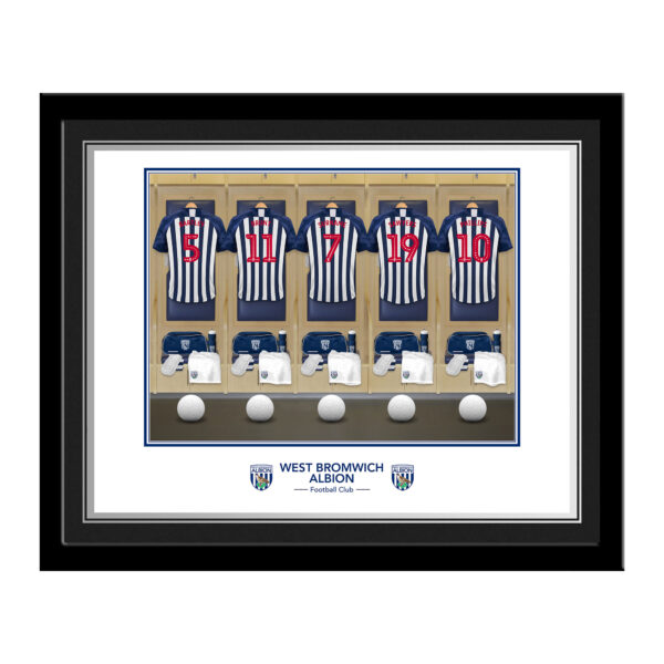 Personalised West Brom FC Dressing Room Framed Photo