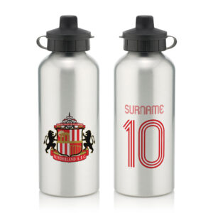 Personalised Sunderland FC Retro Shirt Water Bottle