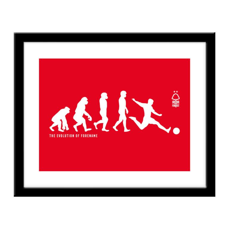 Personalised Nottingham Forest FC Evolution Print