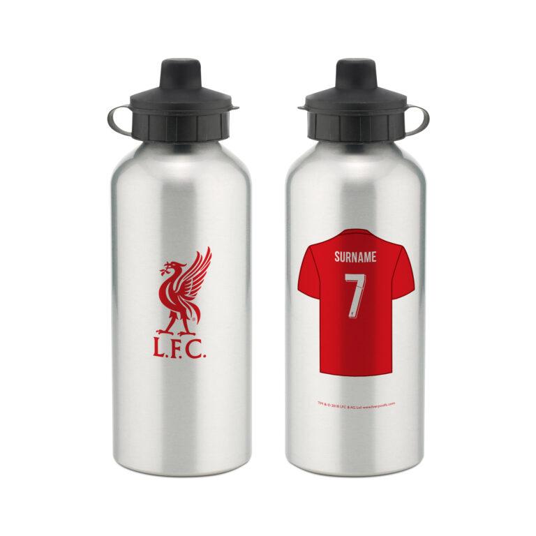 Personalised Liverpool FC Aluminium Water Bottle