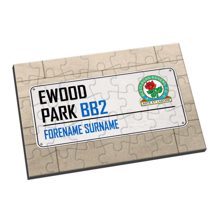 Personalised Blackburn Rovers FC Street Sign Jigsaw