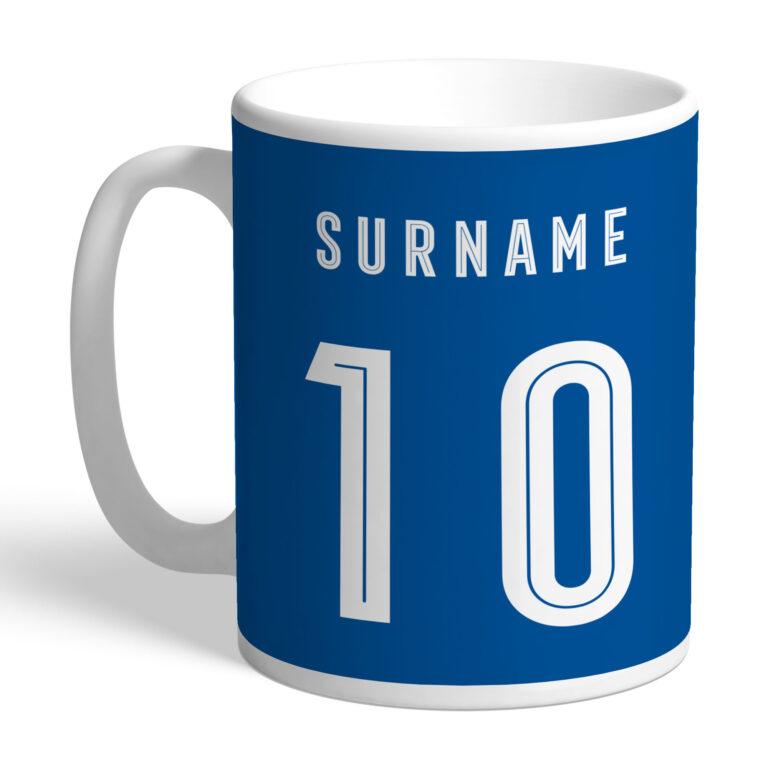 Personalised Birmingham City FC Retro Shirt Mug