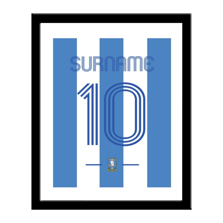 Personalised Sheffield Wednesday FC Retro Shirt Print