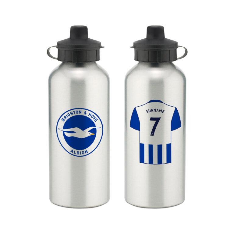 Personalised Brighton & Hove Albion FC Aluminium Water Bottle