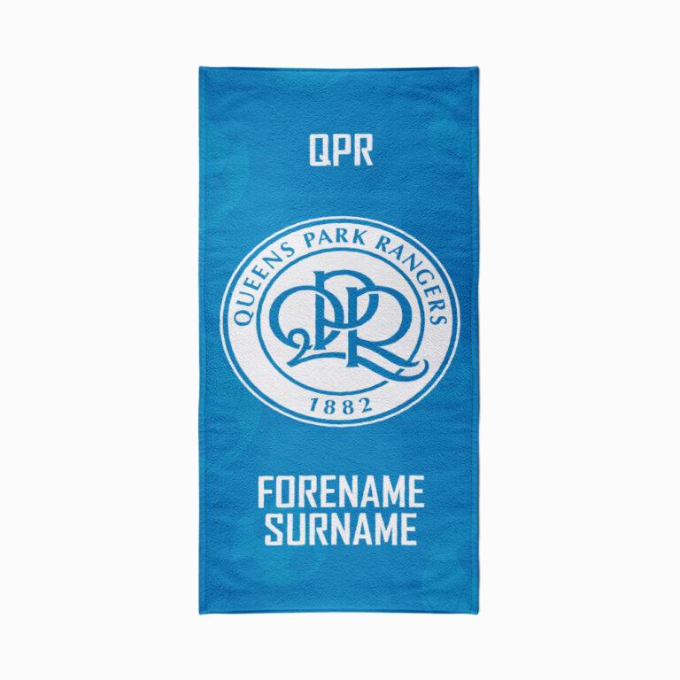 Personalised QPR FC Crest Beach Towel – 70cm x 140cm