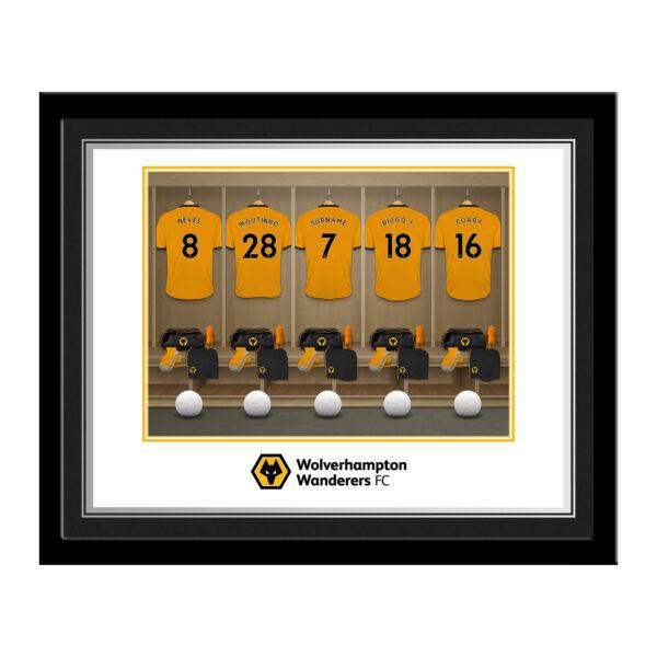 Personalised Wolverhampton Wanderers FC Dressing Room Photo Framed