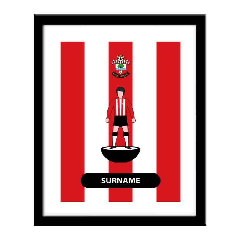 Personalised Southampton FC Player Figure Print