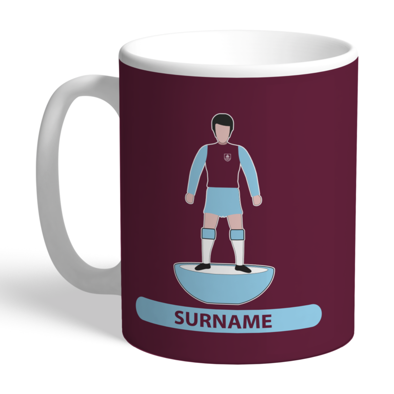 Personalised Burnley FC Player Figure Mug