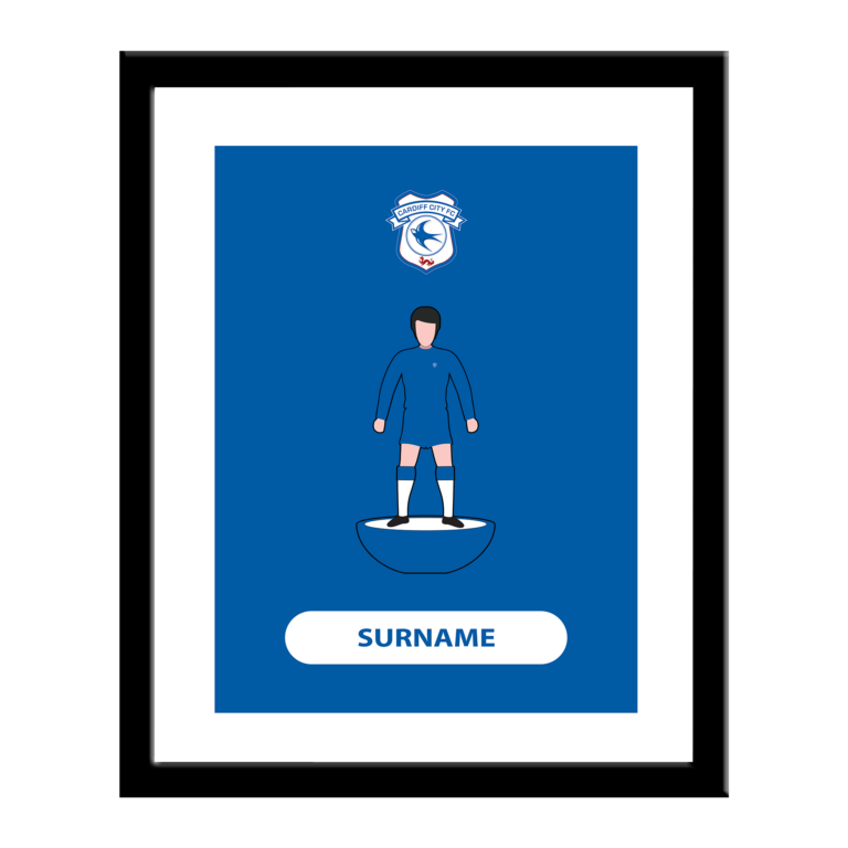 Personalised Cardiff City FC Player Figure Print