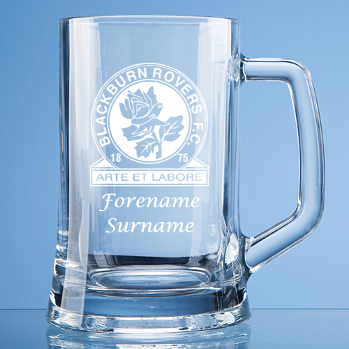 Personalised Blackburn Rovers FC Straight Sided Tankard