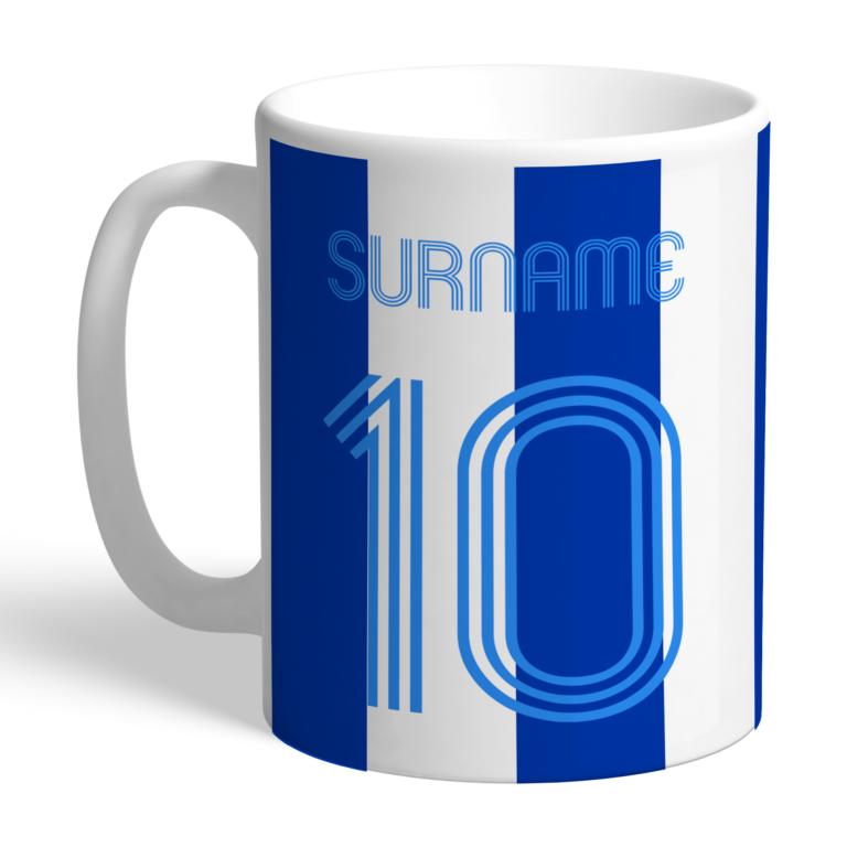 Personalised Brighton & Hove Albion FC Retro Shirt Mug