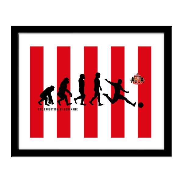 Personalised Sunderland FC Evolution Print