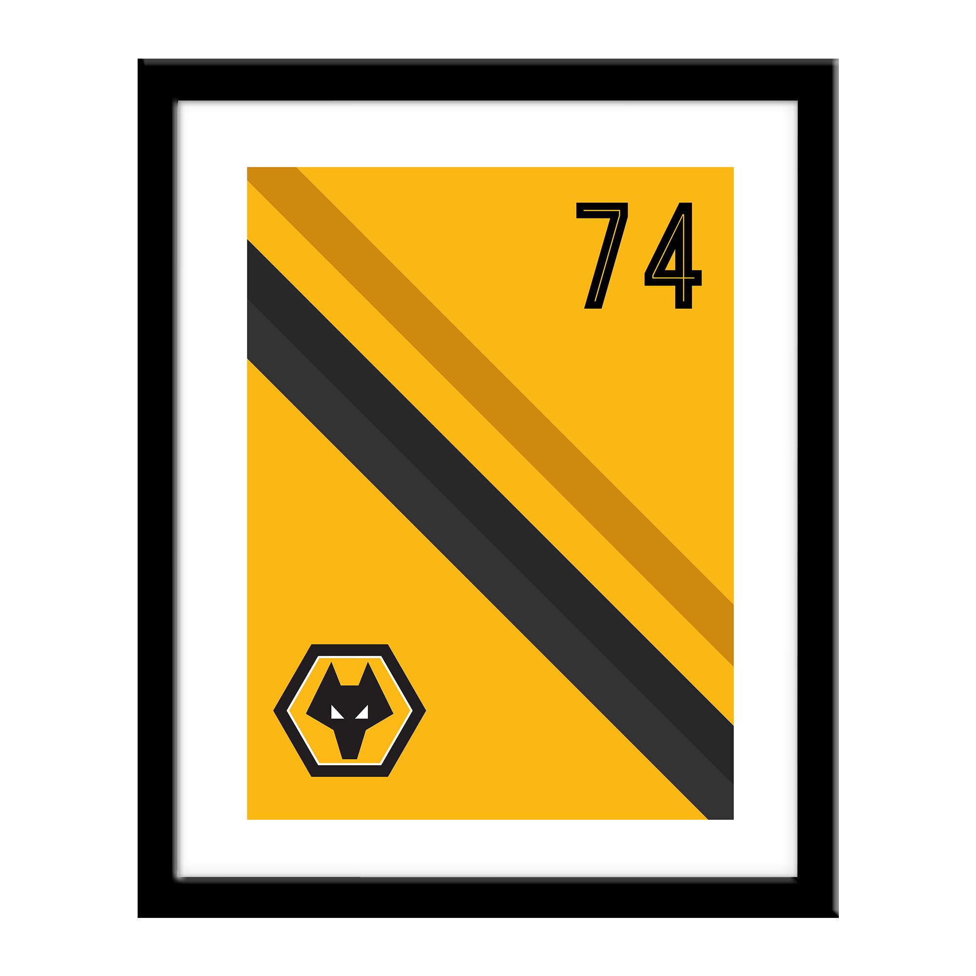 Personalised Wolverhampton Wanderers FC Stripe Print