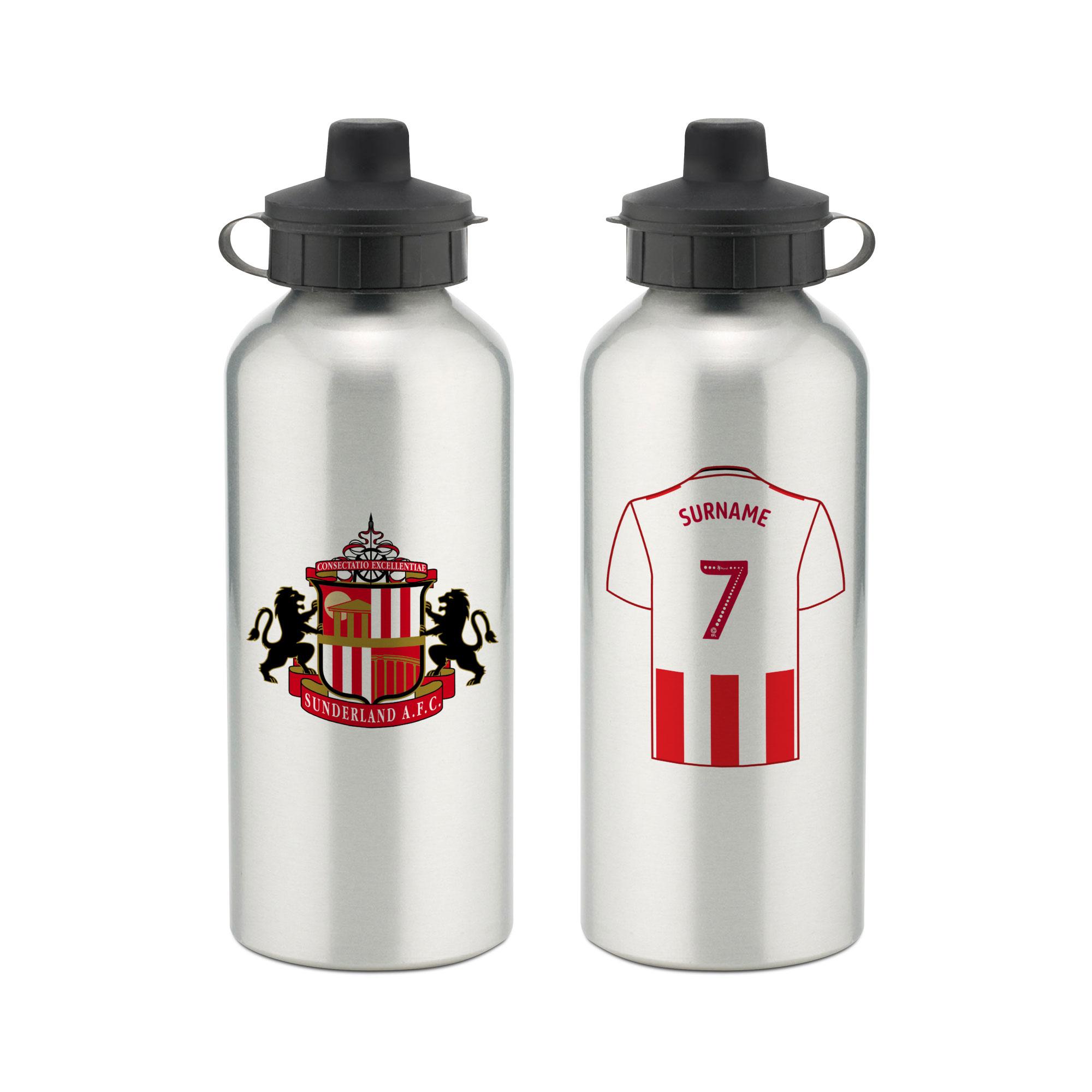 Personalised Sunderland FC Aluminium Water Bottle