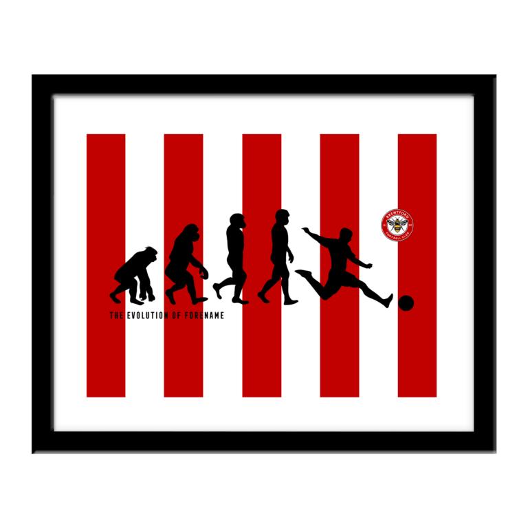 Personalised Brentford FC Evolution Print