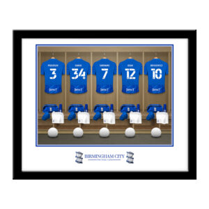 Personalised Birmingham City FC Dressing Room Framed Print