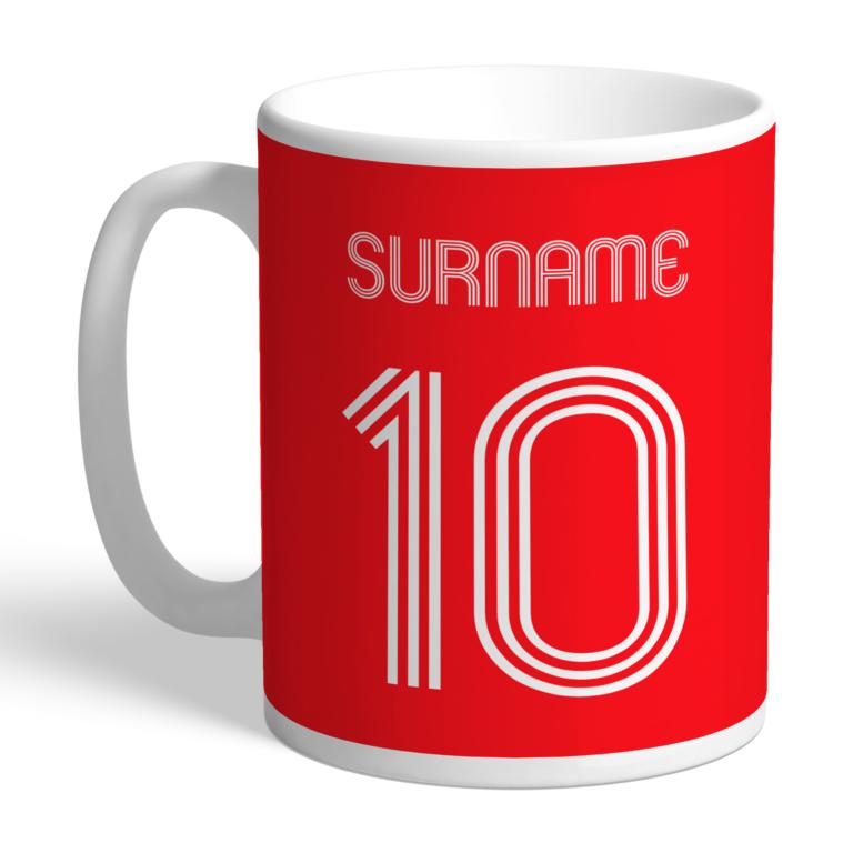 Personalised Liverpool FC Retro Shirt Mug