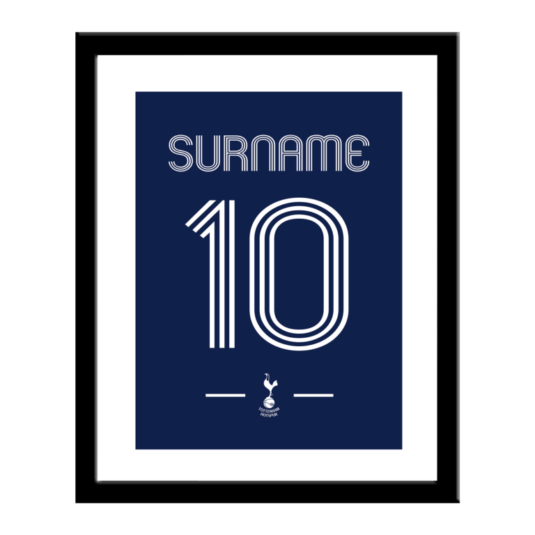 Personalised Tottenham Hotspur FC Retro Shirt Print