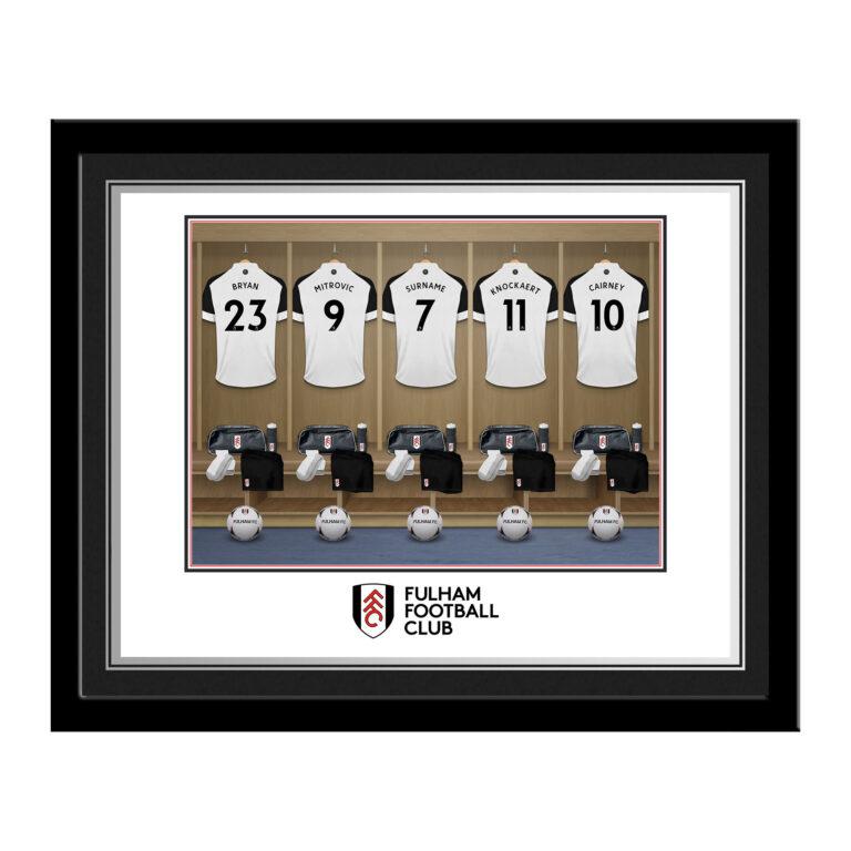 Personalised Fulham FC Dressing Room Photo Framed