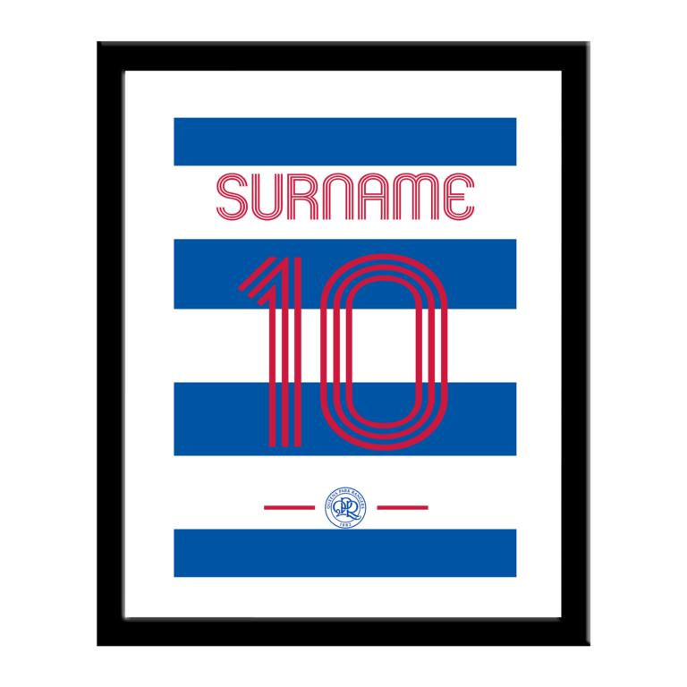 Personalised QPR FC Retro Shirt Print