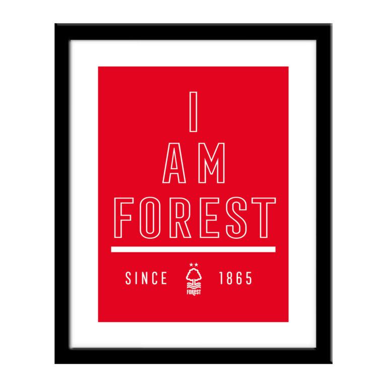 Personalised Nottingham Forest FC I Am Print