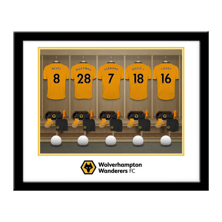 Personalised Wolverhampton Wanderers FC Dressing Room Framed Print