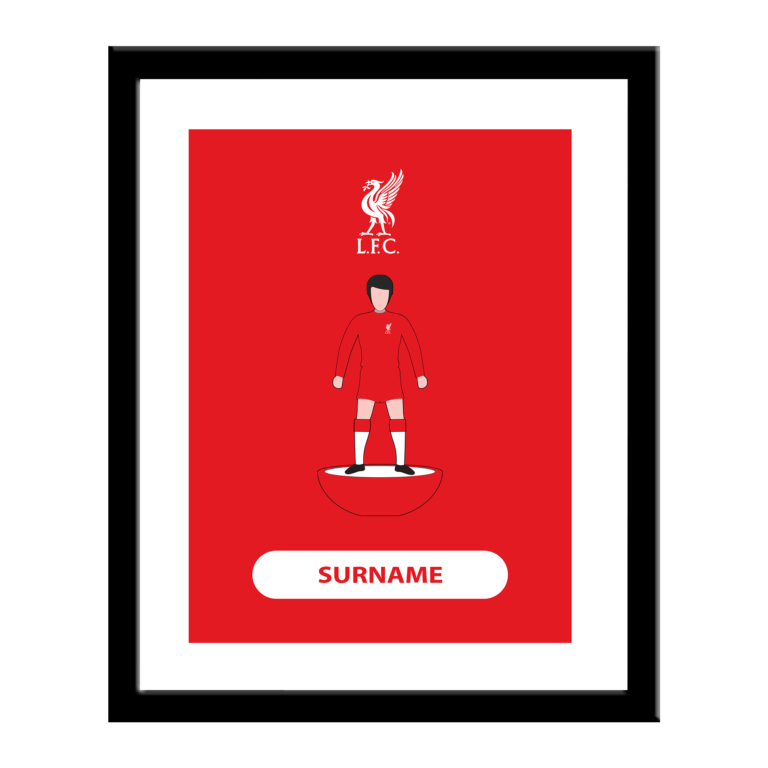 Personalised Liverpool FC Player Figure Print