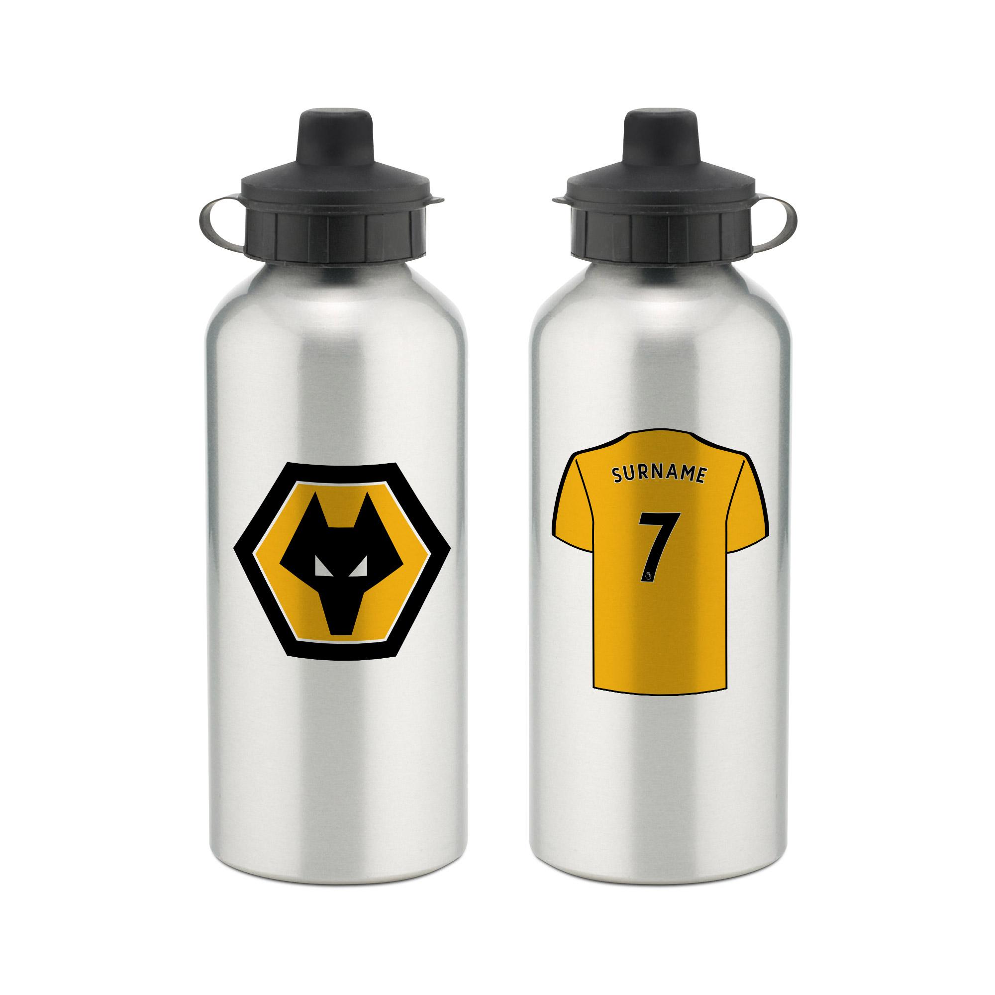 Personalised Wolverhampton Wanderers FC Aluminium Water Bottle