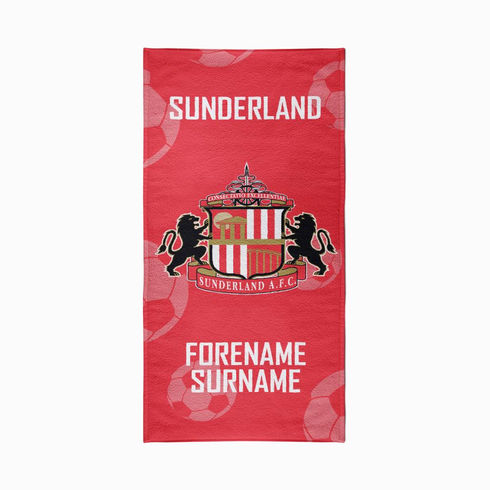 Personalised Sunderland FC Crest Beach Towel – 70cm x 140cm