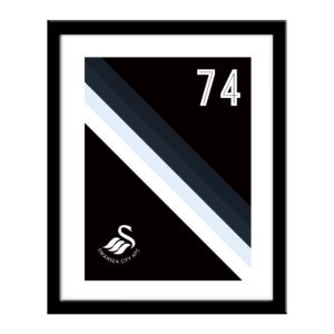 Personalised Swansea City FC Stripe Print
