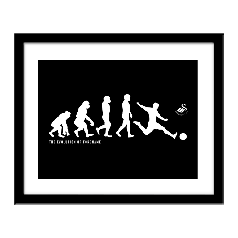 Personalised Swansea City FC Evolution Print
