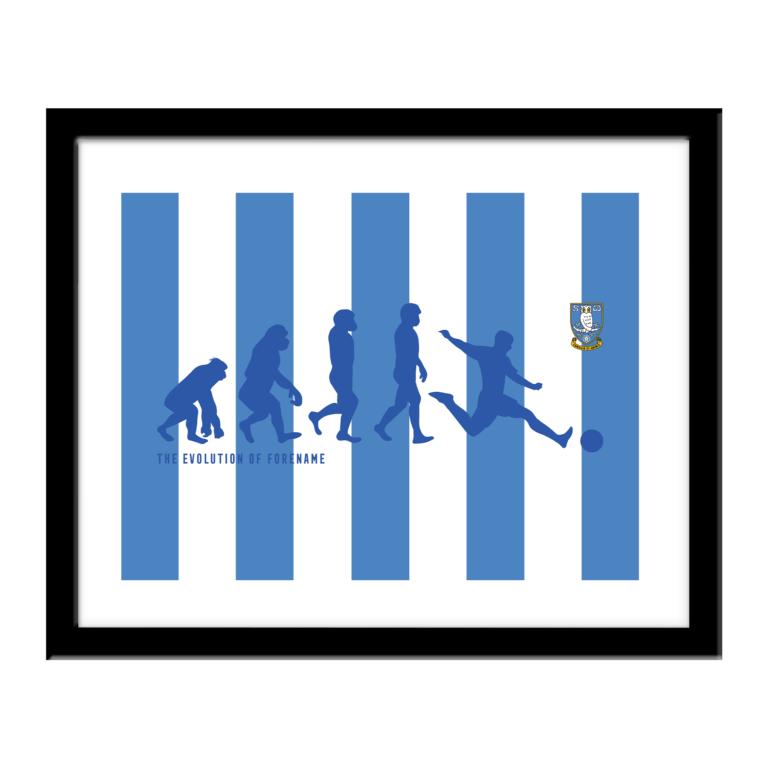 Personalised Sheffield Wednesday FC Evolution Print