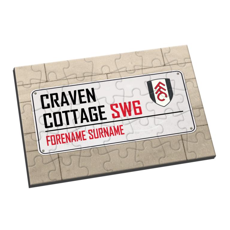 Personalised Fulham FC Street Sign Jigsaw