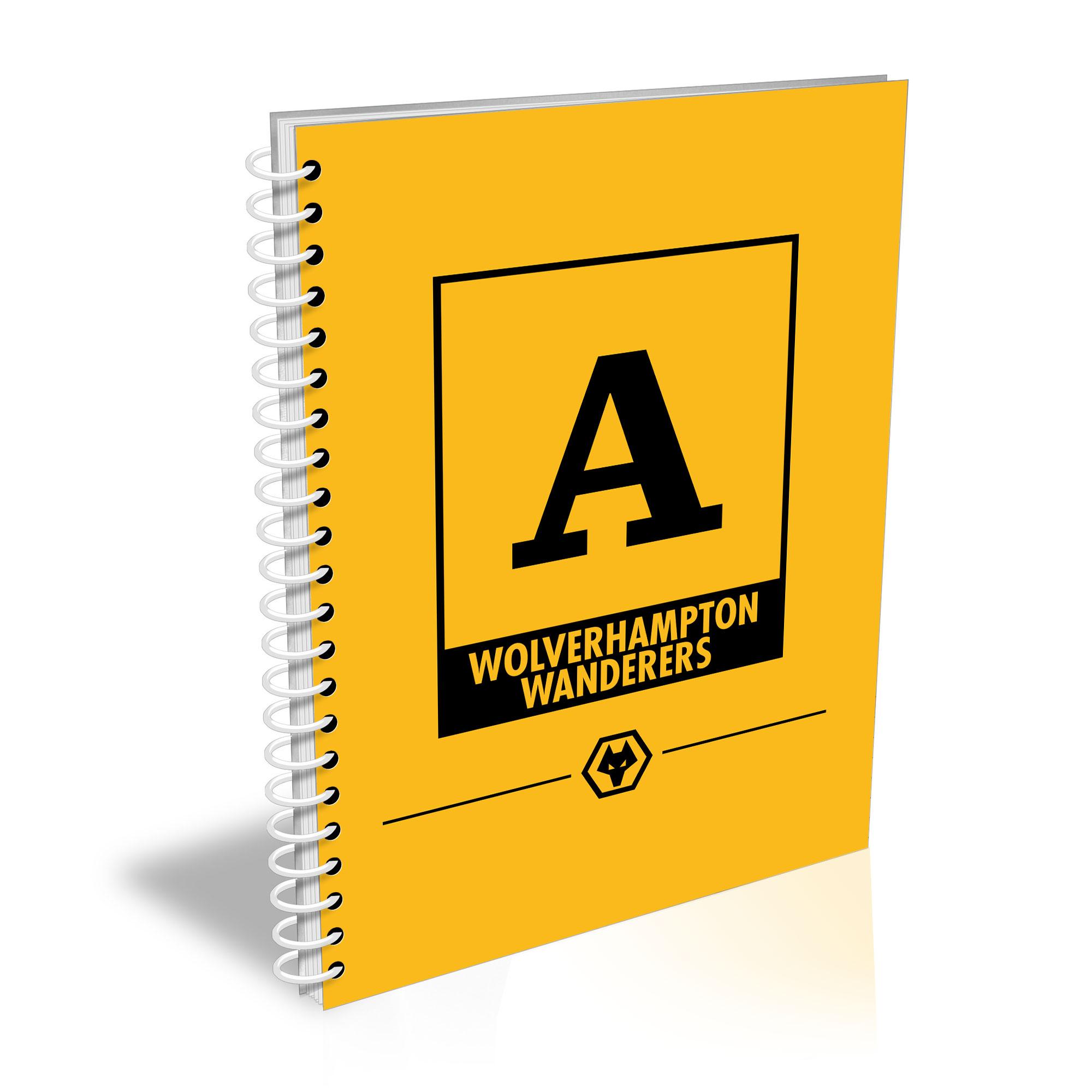 Personalised Wolverhampton Wanderers FC A5 Notepad
