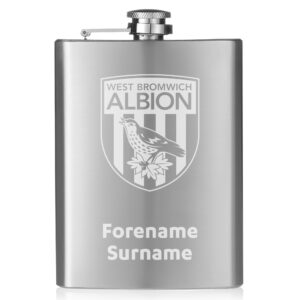 Personalised West Brom FC Crest Hip Flask