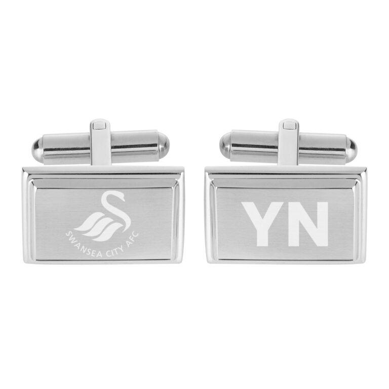 Personalised Swansea City FC Crest Cufflinks