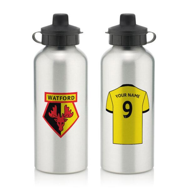 Personalised Watford FC Aluminium Water Bottle