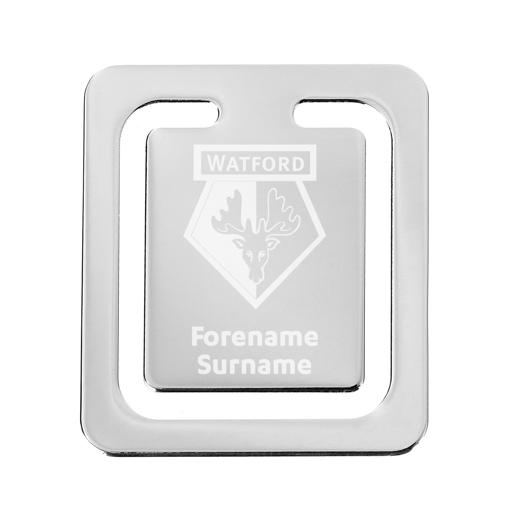 Personalised Watford FC Crest Bookmark