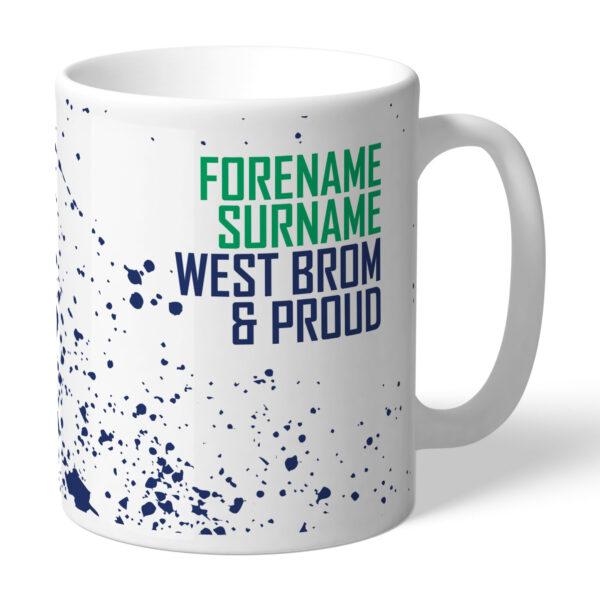 Personalised West Brom FC Proud Mug
