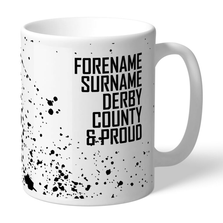 Personalised Derby County FC Proud Mug